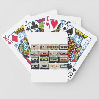 Sixteen Audio Cassettes Poker Deck
