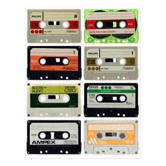 Sixteen Audio Cassettes Postcard