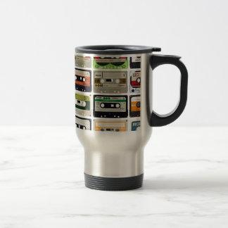 Sixteen Audio Cassettes Travel Mug