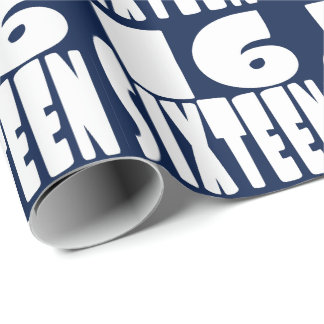 Sixteen in BIG Lettering Wrapping Paper