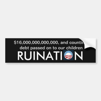 Sixteen trillion dollars of debt...and counting bumper sticker