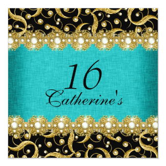 sixteenth birthday elegant any age celebration card