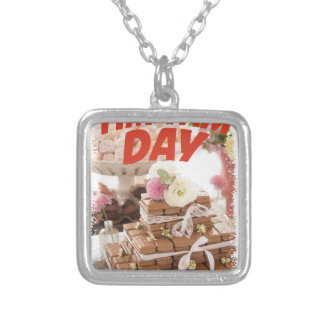 Sixteenth February - Tim Tam Day Silver Plated Necklace