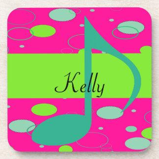 Sixteenth Note Music Symbol Drink Coasters