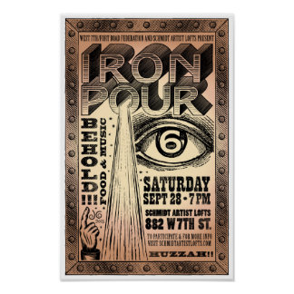 Sixth Annual West 7th Iron Pour Poster 2013