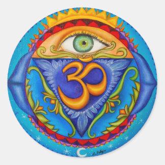 Sixth chakra, Third eye Round Sticker