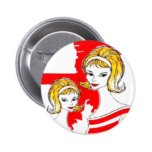 Sixties Feminine Products Art Mod Vintage Kitsch Pin