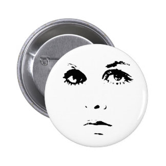 Sixties Girl Pinback Button