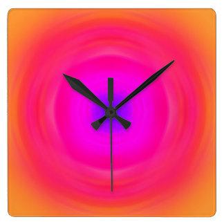 Sixties Gradient - Pink Blue Purple Orange Yellow Wall Clock