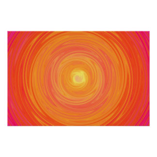 Sixties Gradient - Psychedelic Orange Yellow Poster