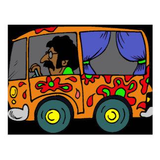 Sixties Hippie Van Postcard