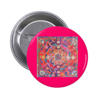 sixties mandala pinback buttons