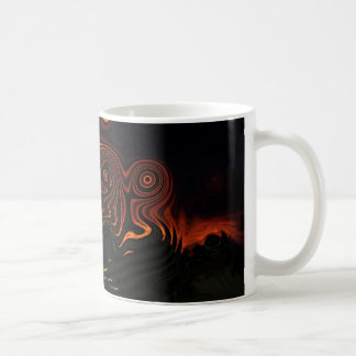 Sixties tie dye sunset coffee mug