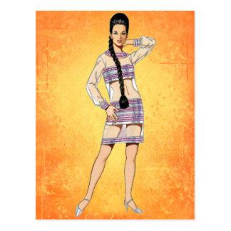 Sixties Transparent Dress Postcard