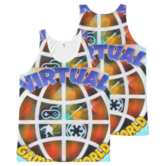 Size: All-Over Printed Unisex Tank