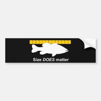 """""""Size Does Matter"""" - Funny bass fishing Bumper Sticker"""