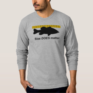 """Size Does Matter"" - Funny bass fishing T-Shirt"