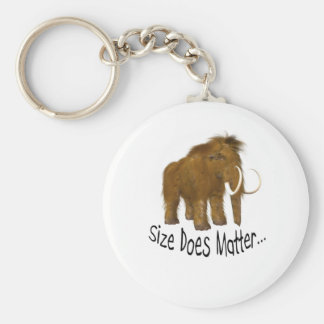 Size Does Matter Wooly Mammoth Keychain