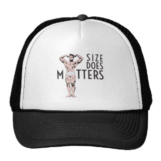Size does matters with vintage bodybuilder trucker hat