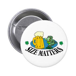 Size Matters - Irish Drinking Gift 2 Inch Round Button