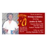 Sizzling At 70 Birthday Party Photo Invitation Customized Photo Card