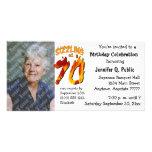 Sizzling At 70 Birthday Party Photo Invitation Photo Greeting Card