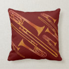 Sizzling Trombones Throw Pillow