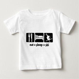SK02 EAT SLEEP SKI3.png Baby T-Shirt