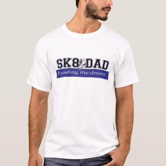 SK8 DAD - Funding the Dream - Blue - Horizontal T-Shirt