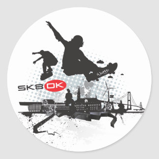 SK8 DK CLASSIC ROUND STICKER