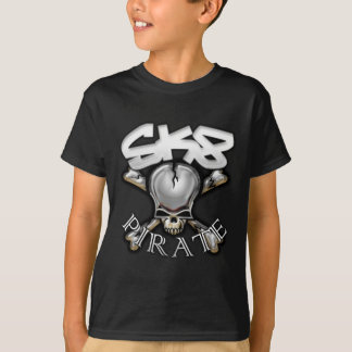 SK8 PIRATE BLACK T-Shirt