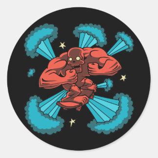 Sk8er Demon Classic Round Sticker