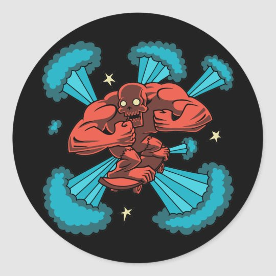 Sk8er Demon Classic Round Sticker