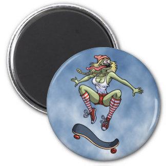 Sk8frog Fran 2 Inch Round Magnet