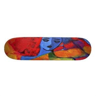 SK8R rainbow girl Skateboard