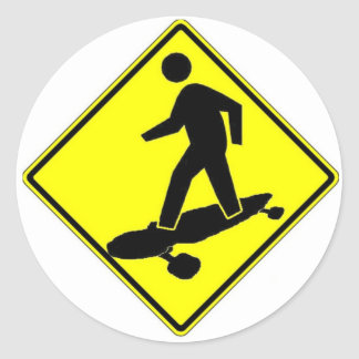 Sk8r Xing Classic Round Sticker