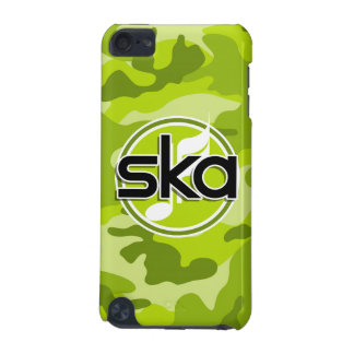 Ska bright green camo camouflage iPod touch (5th generation) covers