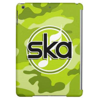 Ska bright green camo camouflage iPad air covers