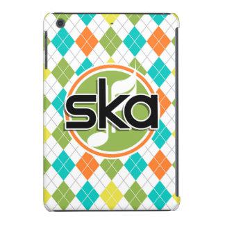 Ska Music; Colorful Argyle Pattern iPad Mini Cover