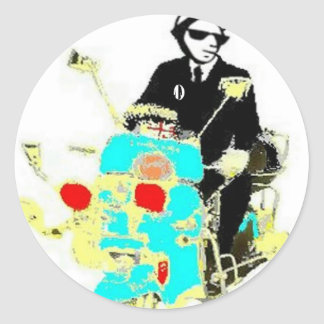 Ska On A Scoot Classic Round Sticker