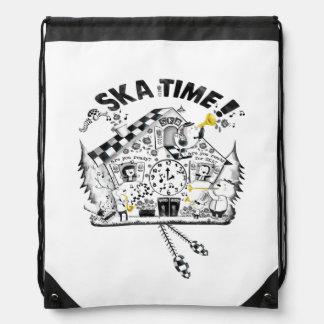 Ska Time Cuckcoo Clock Drawstring Bags
