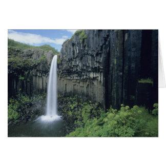 Skaftafell National Park, Svartifoss waterfall, Card
