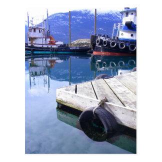 Skagway, Alaska Tugs Postcard
