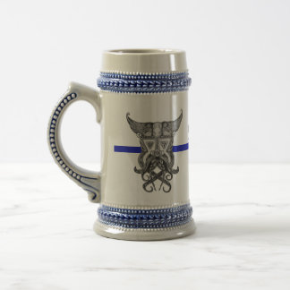 Skal Viking - Thin Blue Line Beer Stein