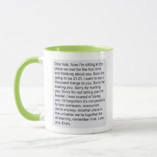 "Skam Mug - Even's ""last"" message to Isak"