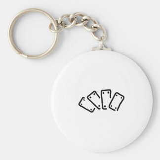skat pack of cards spades as basic round button keychain