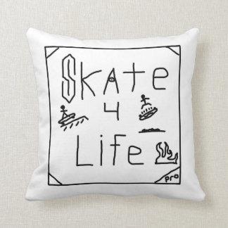 Skate 4 Life Throw Pillow