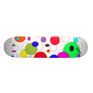 skate board with cool circles