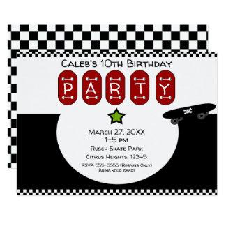 Skate Boarder Half Pipe Skateboard Birthday Party Card