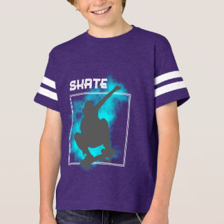 Skate Boarding Silhouette Graphic T-Shirt